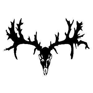 Deer Skull 5 inch HOT PINK Decals Buck Hunting Stickers