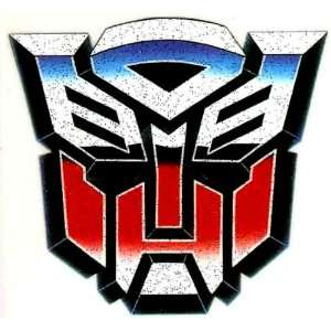 TRANSFORMERS AUTOBOT Blue Red Mask Logo Iron On Transfer