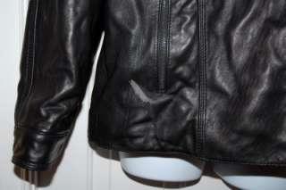 New $595 Andrew Marc Mens Black Leather Jacket Coat Medium Carter