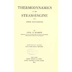 The Steam Engine And Other Heat Engines: Cecil Hobart Peabody: Books