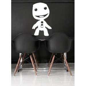 Little BIG Planet Sackboy Wall Art Decal Peel and Stick. White