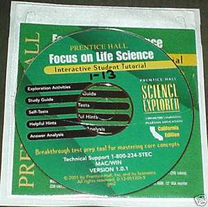 Hall LIFE Science 7th CD ROM Tests ANSWER KEY 0130513555