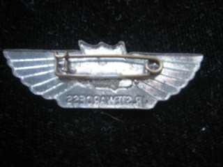 United Airlines Junior Stewardess Pin Steel ~ VERY RARE