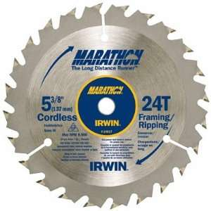 Pack Irwin 14017 5 3/8in. 24 Tooth Framing/Ripping Marathon Cordless