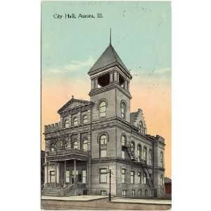 1913 Vintage Postcard   City Hall   Aurora Illinois: Everything Else
