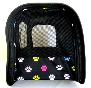 Carrier Luggage Dog Cat Travel Case Bag Purse Multi Color/Pink Paws