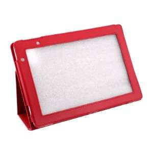 For Acer Iconia Tab A500 Red Stand Leather Case Cover