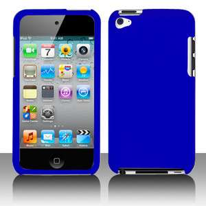 New Apple iPod Touch 4 Dark Blue Txt Faceplate Accessory Case Cover