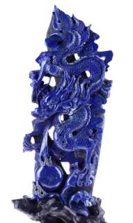 16.1 Natural Lapis Lazuli DRAGON Sculpture, Stone Carving #U16