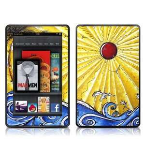 Ocean Fury Design Protective Decal Skin Sticker for  Kindle Fire