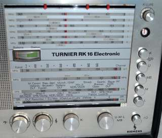 Siemens Turnier RK 16 World Receiver ShortWave Radio Same as Blaupunkt