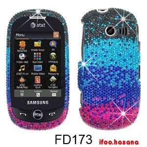 Bling Rhinestone Hard Case Cover Samsung Flight 2 A927 Black/Blue/Pink