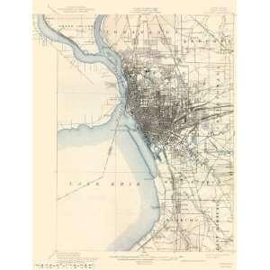 USGS TOPO MAP BUFFALO QUAD NEW YORK (NY) 1901