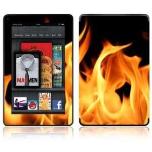 com Flame Design Decorative Skin Decal Sticker for  Kindle Fire
