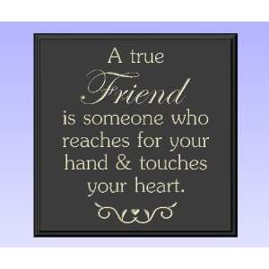 Decorative Wood Sign Plaque Wall Decor with Quote A true friend is