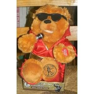ANIMATED ELVIS TEDDY BEAR SINGS love me tender approx