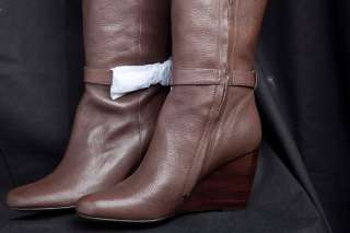 NIB MICHAEL KORS LARA WEDGE BOOTS SHOES MOCHA $295