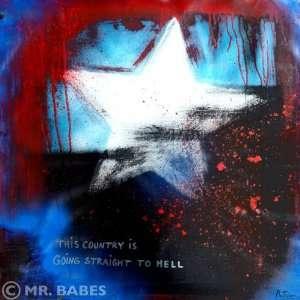 American Beauty Original Acrylic On Canvas Painting Pop Art