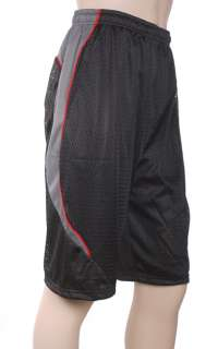 Mens athletic gym,basketball,training mesh lined pocket shorts,black