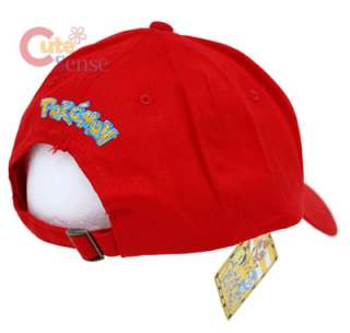 Pokemon Trainer Baseball Cap  Adjustable Hat  Canvas