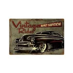 Hot Rod Metal Sign Car Shop Garage 12 X 18 Not Tin