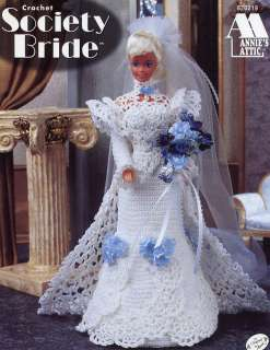 Society Bride Barbie Annies Attic Dress for Fashion Dolls Crochet