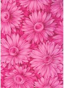 RAINBOW GDN DK PINK DAISY TONAL~ Cotton Quilt Fabric