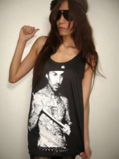 Travis Barker Drummer Blink 182 Punk Rock Tank Top M