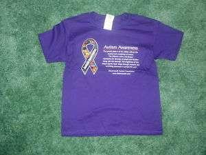 Child XS 4 5 Autism Awareness Ribbon Purple t shirt NEW