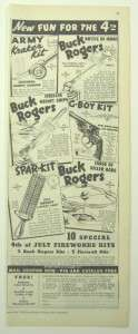 Original Advertisement for Buck Rogers Toys   May 1937