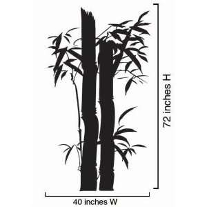 Vinyl Wall Art Decal Sticker Large Bamboo Tree 40x72