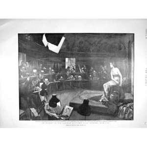 1898 Langham Chambers Sketching Club Art Life Study