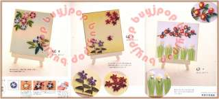 Japanese Craft Book PAPER QUILL Applique Quilling card