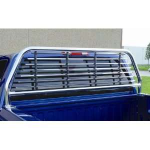 Go Industries Round Tube Headache Rack Chrome Ford F250+ 1999 to 2005
