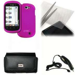 EMPIRE LG DoublePlay Black Leather Case Pouch with Belt Clip and Belt