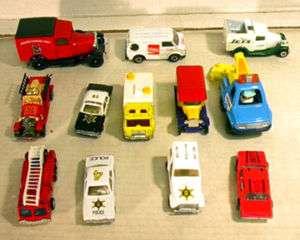 12 Assorted Hot Wheels/Matchbox/Corgi Style Toy Cars