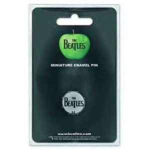 Beatles Mini Pin Badge   Drumhead Logo Musical