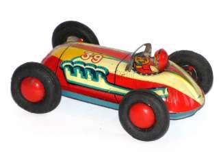 1950 RARE BANDAI CHAMPION BABY ROCKET RACE CAR JAPAN