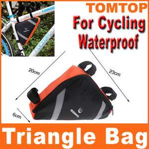 Cycling Bicycle Bike Bag Top Tube Triangle Bag Front Saddle Frame