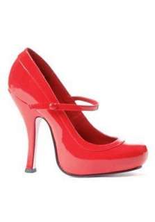 PartyLand Leg Avenue 4 Patent Red Mary Jane high heel shoe