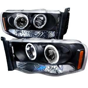 02 05 DODGE RAM BLACK LED HALO PROJECTOR HEAD LIGHTS Automotive