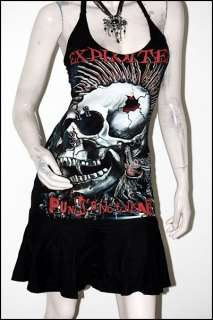 The Exploited Heavy Metal Rock DIY Halter Dress Top