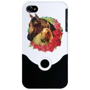 iPhone 4 or 4S Slider Case White Horse And Roses