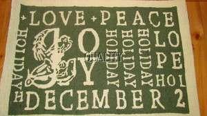 POTTERY BARN JOY ACCENT LOVE PEACE RUG 2X3 NEW W/ TAG