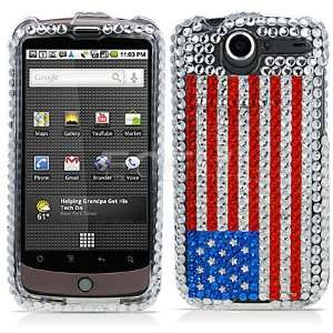 USA AMERICAN FLAG CRYSTAL BLING CASE FOR HTC NEXUS ONE Electronics