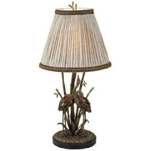 Maitland Smith Antique Brass Heron Table Lamp: Home