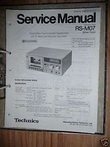 Service Manual für Technics RS M07 Tape Deck,ORIGINAL