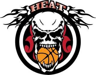 Heat   Tribal Skull Sports Basketball Miami Tribute Shirt
