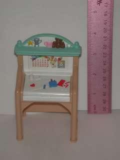 Fisher Price Loving Dollhouse Furniture Art Desk/ Hutch