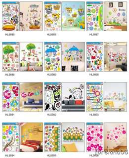 Coloful Flowers Wall Stickers Fashion Room Home Decor